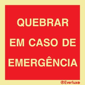 Quebrar em caso de emergência