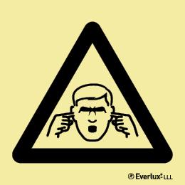 Alerta ruído sonoro - policarbonato adesivo