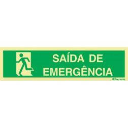 SAÍDA DE EMERGÊNCIA À ESQUERDA