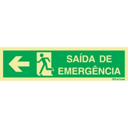 SAIDA EMERGENCIA A ESQUERDA COM TEXTO