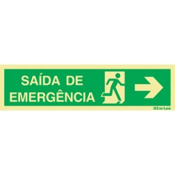SAIDA EMERGENCIA A DIREITA COM TEXTO