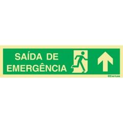 SAÍDA DE EMERGÊNCIA COM SETA PARA CIMA