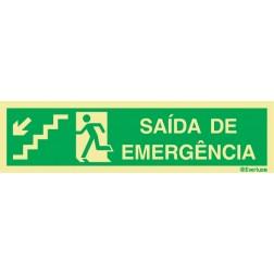 ESCADA DESCE À ESQUERDA PARA SAÍDA DE EMERGÊNCIA