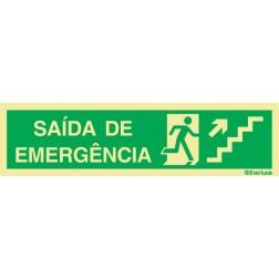 ESCADA SOBE À DIREITA PARA SAÍDA DE EMERGÊNCIA