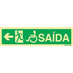 SAÍDA À ESQUERDA INCLUINDO USUÁRIO DE CADEIRA DE RODAS