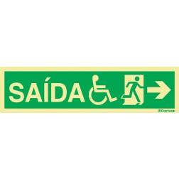 SAÍDA À DIREITA INCLUINDO USUÁRIO DE CADEIRA DE RODAS