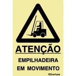 ATENÇÃO EMPILHADEIRA EM MOVIMENTO