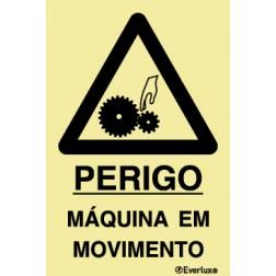 PERIGO MÁQUINA EM MOVIMENTO