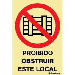 PROIBIDO OBSTRUIR ESTE LOCAL