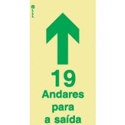 19 ANDARES PARA A SAÍDA - POLICARBONATO ADESIVO