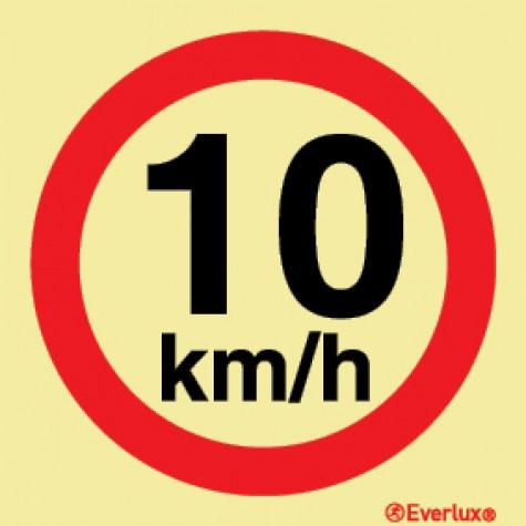 VELOCIDADE MÁXIMA DE 10KM/H