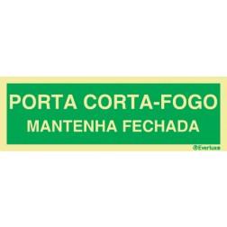 PORTA CORTA-FOGO MANTENHA FECHADA