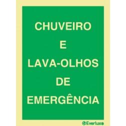 CHUVEIRO E LAVA-OLHOS DE EMERGÊNCIA