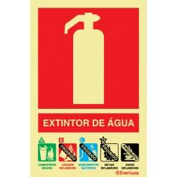 EXTINTOR COM AGENTE ÁGUA