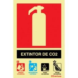 EXTINTO COM AGENTE CO2