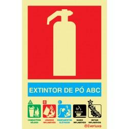 EXTINTOR COM AGENTE PÓ ABC