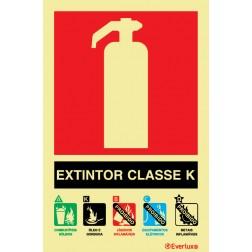 EXTINTOR COM AGENTE CLASSE K