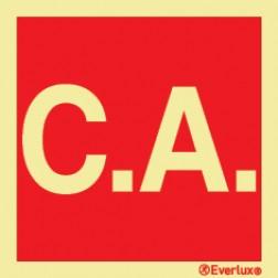"""""""SIGLA """"""""C.A."""""""" PARA INDICAR A CENTRAL DE ALARME"""""""