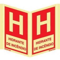 """""""LETRA """"""""H"""""""" PARA INDICAÇÃO DE HIDRANTE COM LEGENDA"""""""