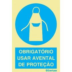 OBRIGATÓRIO USAR AVENTAL DE PROTEÇÃO