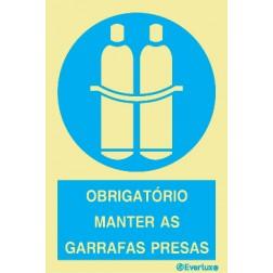 OBRIGATÓRIO MANTER AS GARRAFAS PRESAS