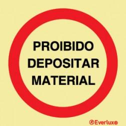 PROIBIDO DEPOSITAR MATERIAL