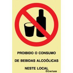 PROIBIDO O CONSUMO DE BEBIDAS ALCOÓLICAS