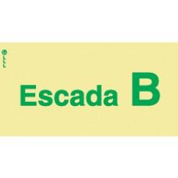 ESCADA B - POLICARBONATO ADESIVO