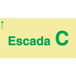 ESCADA C - POLICARBONATO ADESIVO