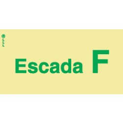 ESCADA F - POLICARBONATO ADESIVO