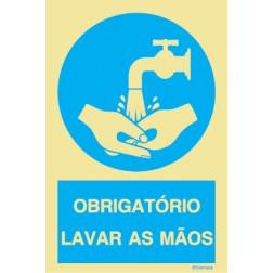 OBRIGATÓRIO LAVAR AS MÃOS