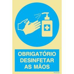 OBRIGATÓRIO DESINFETAR AS MÃOS