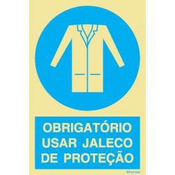 OBRIGATÓRIO USAR JALECO DE PROTEÇÃO