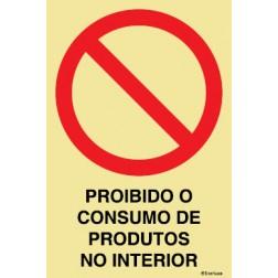 PROIBIDO O CONSUMO DE PRODUTOS NO INTERIOR