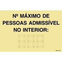 NÚMERO MÁXIMO DE PESSOAS NO INTERIOR